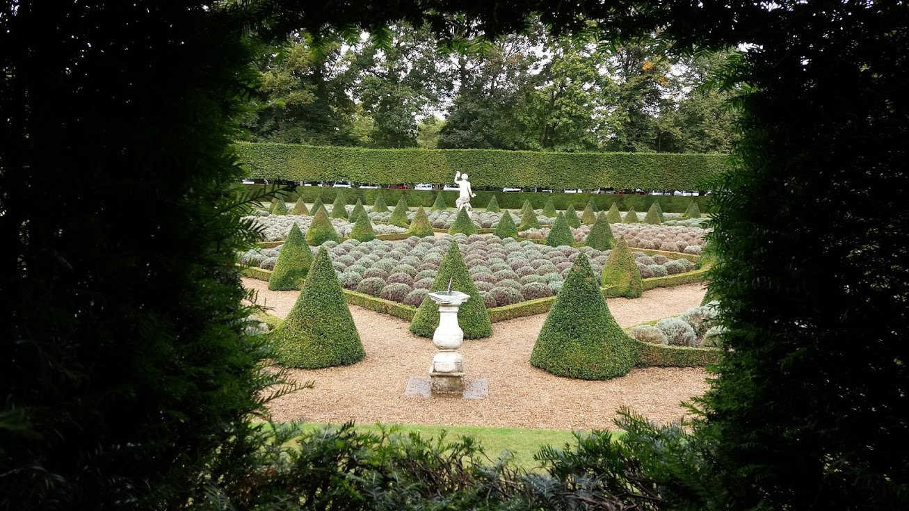 Box topiary at Ham House, Richmond.
